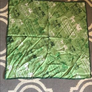 Coach green house and carriage silk scarf